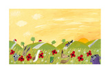 Countryside Landscape in the Summer Posters by  andreapetrlik