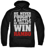 Hoodie: Rambo First Blood - He Never Pullover Hoodie