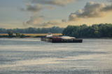Barge on the River 1 Photographic Print by Jai Johnson