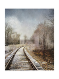 Snow on the Tracks Giclee Print by Jai Johnson