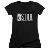 Juniors: The Flash - S.T.A.R. V-Neck Shirts