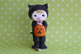 Halloween Kitty Girl Photographic Print