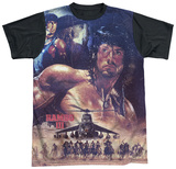 Rambo III - No Mercy Black Back T-Shirt