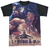 Rambo III - No Mercy Black Back Shirts