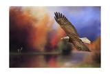 Fall Flight Bald Eagle Giclee Print by Jai Johnson
