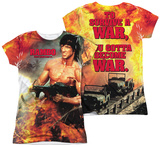 Juniors: Rambo First Blood II - Become War (Front - Back Print) T-Shirt