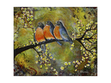 Robin Family Giclee Print by Blenda Tyvoll