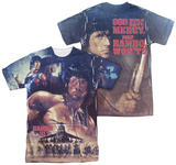 Rambo III - No Mercy (Front - Back Print) T-Shirt