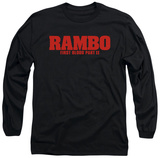 Long Sleeve: Rambo First Blood II - Logo T-Shirt