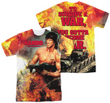 Rambo First Blood II - Become War (Front - Back Print) T-shirts