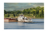 Barge on the River 2 Giclee Print by Jai Johnson