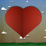 Love Heart Papper Cut Posters by  happysunstock