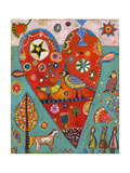 Love Birds Heart Giclee Print by Jill Mayberg