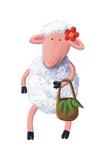 Cute Sheep Carry Bag Prints by  andreapetrlik
