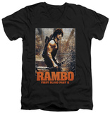 Rambo First Blood II - The Hunt V-Neck T-Shirt