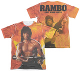 Rambo First Blood II - Fire (Front - Back Print) Shirts