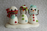 Snowmen Hear See Speak Photographic Print