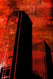 Grunge Buildings Prints by JENNY SOLOMON
