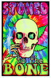Stoned To The Bone Blacklight Poster Print