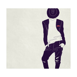 Stylish Man,, Black and White Print by  vipa21