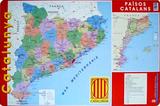 Mapa Catalunya Plakat
