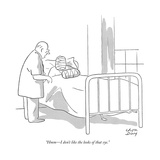 """""""Hmm—I don't like the looks of that eye."""" - New Yorker Cartoon Giclee Print by Chon Day"""