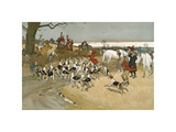 The Fallowfield Hunt, The Death Premium Giclee Print by Cecil Aldin
