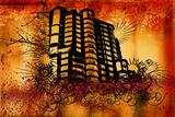 Grunge Building Prints by JENNY SOLOMON