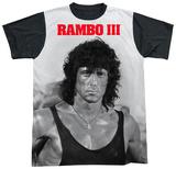 Rambo III - Rambo Stare Black Back T-shirts