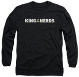 Long Sleeve: King Of The Nerds - Horizontal Logo T-Shirt