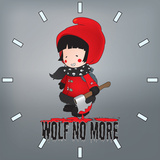 Little Red Riding Hood Illustration.Wolf No More Clock Pattern Posters by  mangulica