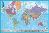 Mapa Do Mundo Posters