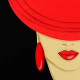 Cappello Rosso Premium Giclee Print by  goccedicolore