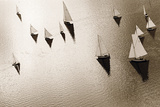 Broads Regatta, Island Yachts Giclee Print by Ben Wood