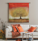 Dreaming Red Tree Wall Tapestry by Melissa Graves-Brown