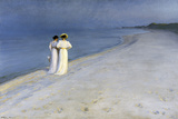 Summer Evening on Skagen's Southern Beach – 1893 Giclee Print by Peter Severin Kroyer