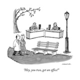 """Hey, you two, get an office!"" - New Yorker Cartoon Premium Giclee Print by Joe Dator"