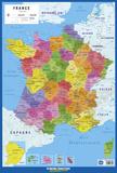 Carte De France Affiche