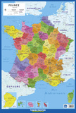 Carte De France Print