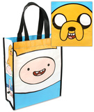 Adventure Time Small Recycled Shopper Tote Bag