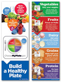 Myplate Build A Healthy Plate Poster Set Plakaty