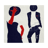 Stylish Couple,, Black and White Premium Giclee Print by  vipa21