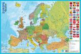 Mapa Da Europa Prints