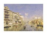 Venezia, il Canal Grande alla Salute Premium Giclee Print by Rubens Santoro