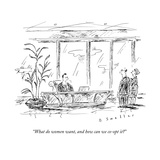 """""""What do women want, and how can we co-opt it?"""" - New Yorker Cartoon Premium Giclee Print by Barbara Smaller"""