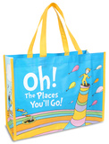 Dr. Seuss Oh the Places Large Recycled Shopper Tote Bag