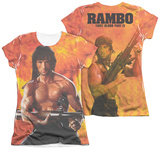 Juniors: Rambo First Blood II - Fire (Front - Back Print) T-shirts