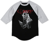 Raglan: Ozzy Osbourne - Middle Finger T-Shirt