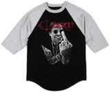 Raglan: Ozzy Osbourne - Middle Finger Tshirt