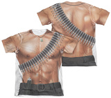 Rambo III - Rambo Costume (Front - Back Print) T-Shirt